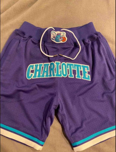 Charlotte Hornets Basketball Purple Just Don Shorts photo review