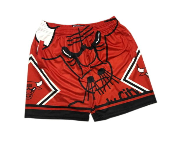 Chicago Bulls Big Face Shorts Red