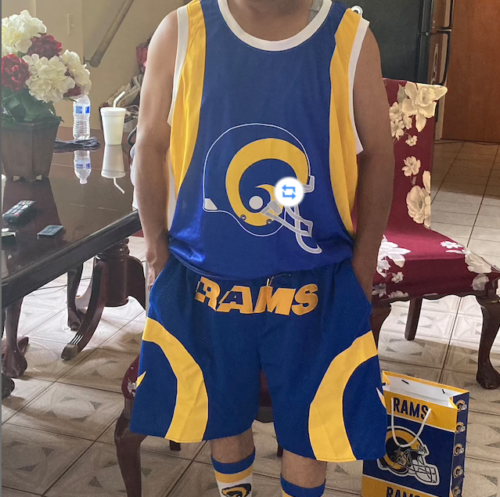 Los Angeles Rams Blue Shorts photo review