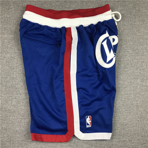 Los Angeles Clippers 1984-85 Blue Classics Shorts side