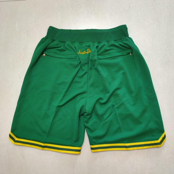 Oakland Athletics Just Don Home Run Derby Green Shorts back