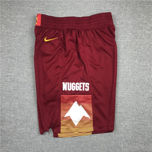 Denver Nuggets City Edition 2021 Swingman Red Shorts side 1