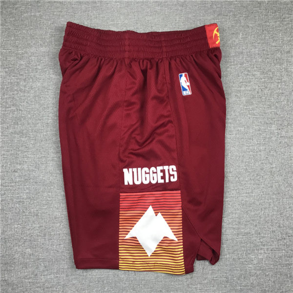 Denver Nuggets City Edition 2021 Swingman Red Shorts side