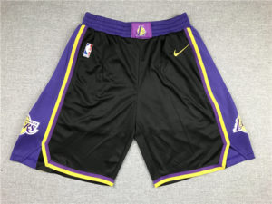 Los Angeles Lakers 2021 Earned Edition Black Shorts