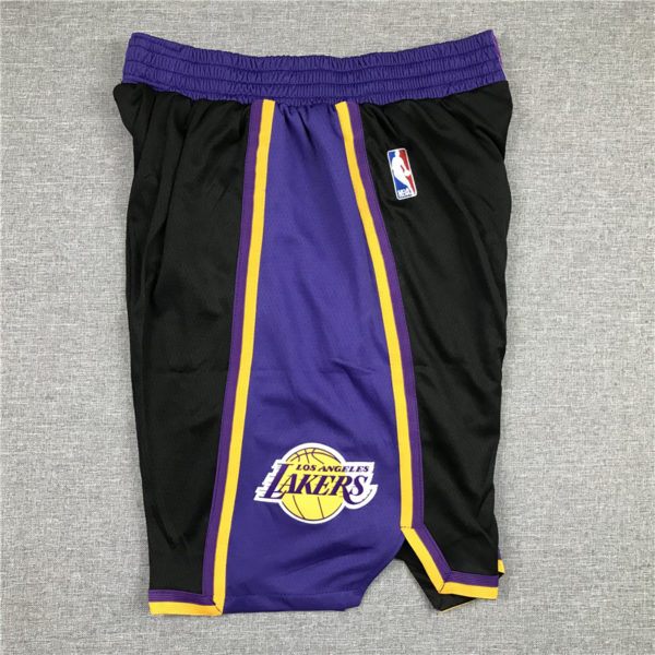 Los Angeles Lakers 2021 Earned Edition Black Shorts side