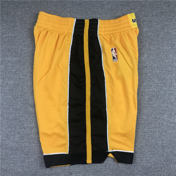 Miami Heat 2020-21 Yellow Earned Edition Shorts side