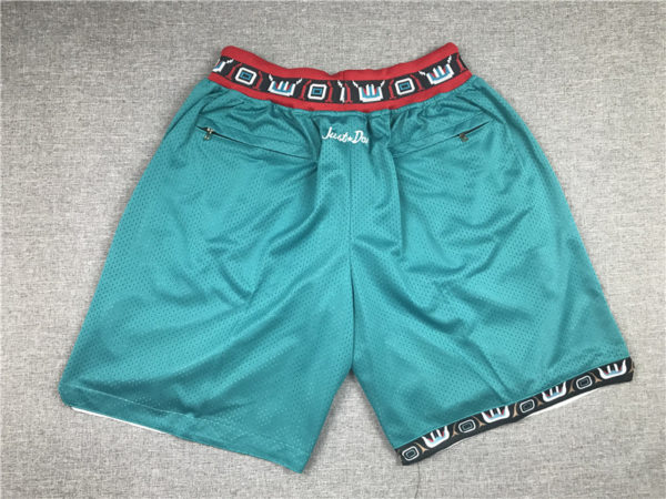 Vancouver Grizzlies 1995-96 Just Don 90s Shorts back